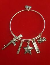 """Silver """"Marines"""" Themed Charm Bracelet (military, soldier)"""