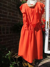 gorgeous JAEGER 100% SILK coral red occasion DRESS + ruffles UK16 US12 bnwt new