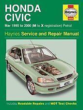 Haynes Owners + Workshop Car Manual Honda Civic Petrol (1995-2000) Petrol H4050