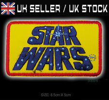 "STAR WARS ""Classic Movies Title Logo"" Embroidered Iron-On Patch - #5S04"