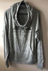 Cabela's Great Outdoors Cowl  hoodie women's Med Drawstring Long Sleeve RN56835
