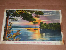 ELK CITY OK - 1939 POSTCARD - BECKHAM COUNTY - CANUTE - HAMMON - DILL CITY