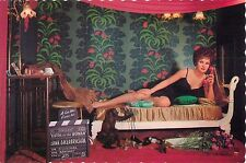"Gina Lollobrigida Flesh and the Woman 4x6"" Postcard Movieland Wax Museum"