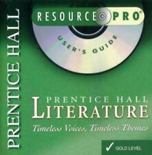 Prentice Hall Literature: Resource Pro Gold Level PC CD lesson planning testing