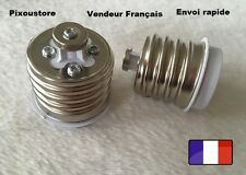 Lot de 2 adaptateurs douille E40 mâle  - E27 femelle ampoule culot neuf 8-41