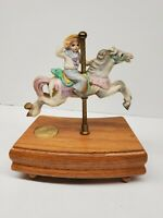 American Carousel Tobin Fraley 3rd Edition Horse Figurine Music Box As Time Goes
