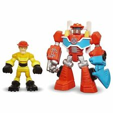 Playskool Heroes Transformers Rescue Bots HEATWAVE Fire-Bot & KADE BURNS Figures
