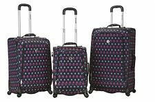 Rockland F180 Fusion 3 Piece Luggage Set Polyester - Icon New