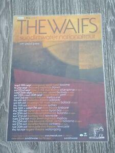 THE WAIFS - SUNDIRTWATER AUSTRALIA Tour - Laminated Promo Tour Poster