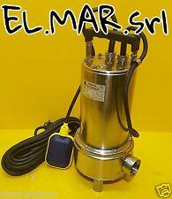 Pompa Sommersa HP 1 Elettropompa Monofase fogna acque nere kw 0,75 Acciaio Inox
