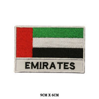 UAE National Flag Embroidered Patch Iron on Sew On Badge For Clothes etc