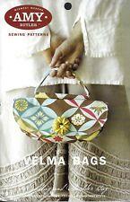VELMA BAGS (Handbag & Shoulder Bag) Amy Butler Sewing Pattern UNCUT Purse Tote