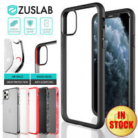 iPhone 11 Pro Max Case ZUSLAB Clear Heavy Duty Shockproof Slim Cover for Apple