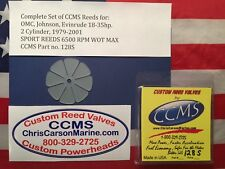 CCMS Johnson OMC Sport Outboard Reed Valves 18-35HP 2 cylinder 1979-2001  PN128S