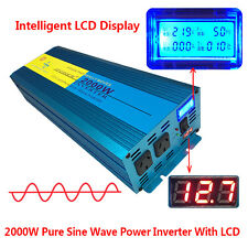 PURE SINE WAVE 2000W MAX 4000W 12V-240V POWER INVERTER CAR CARAVAN CAMPING BOAT
