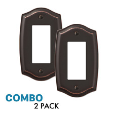 2-Pack Rocker Toggle Switch Gfci Outlet Wall Plate, Oil Rubbed Bronze