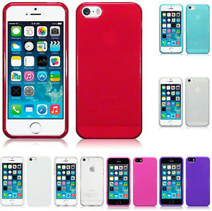 Silicone Slim TPU Gel Back Protector Case Cover for Apple iPhone 5 / 5S / SE