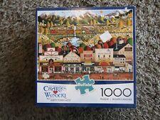 """Charles Wysocki's  """"Sleepy Town West"""" 1000 Piece Jigsaw Puzzle"""