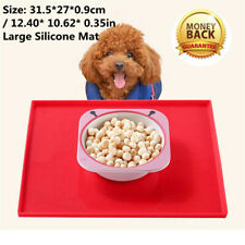 Waterproof Pet Dog Cat Silicone Food Pad Bowl Drinking Feeding Placemat