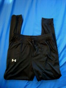 Under Armour Black Heat Gear Pants - Size Youth Large