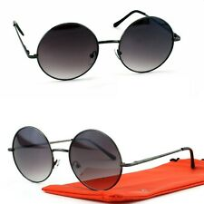 2f93f5fed3db4d Runde Sonnenbrille Groß Nickelbrille Oversized Modern Schwarz Lila Damen  Q55 XL