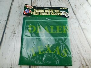 """Casino Chips Texas Hold 'ER Felt Game Table Cloth 36"""" x 30"""" New"""