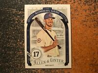 Kris Bryant Cubs 2016 Topps Allen & Ginter The Numbers Game Insert #47