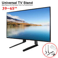 LED LCD Flat Screen TV Stand Base Desktop Table Mount Bracket Holder 39~65''
