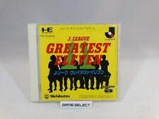 J.LEAGUE GREATEST ELEVEN PC ENGINE HU CARD HUCARD IMPORT JAP GIAPPONESE ORIGINAL