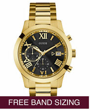 BRAND NEW AUTHENTIC GUESS MEN'S GOLD STAINLESS STEEL BRACELET WATCH OU0668G8T