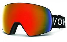 NEW Von Zipper Satellite Goggles-BFC Black Satin-Fire Chrome+Bonus-SAME DAY SHIP