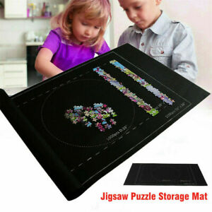 "Jigsaw Puzzle Storage Mat 24x46"" Portable Roll Up Puzzle Felt For Up To 1500Pcs"