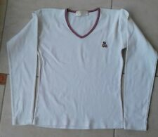 LULU CASTAGNETTE - HAUT FILLE PULL POLO TEE SHIRT manches longues 14 ans blanc