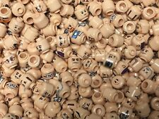 Lego Bulk Minifigure Lot 50 Flesh Heads Male Female Mixed Lot Star Wars & More