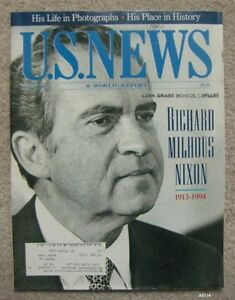 U.S. News & World Report - May 2, 1994 - Richard M. Nixon, His Life, His Place