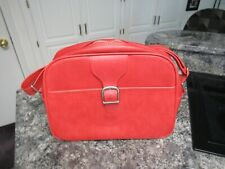 Vintage Rare Samsonite 1970s Red Carry On Bag  Small Suitcase / Luggage