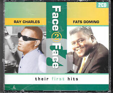 COFFRET 2 CD 36T FACE 2 FACE RAY CHARLES & FATS DOMINO THEIR FIRST HITS NEUF