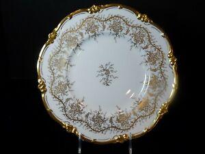 "Royal Cauldon KINGS'S PLATE GOLD 10.5"" Bone China Dinner Plate EUC"