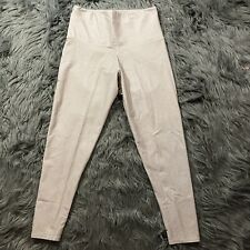 Onzie Flow High Rise Yoga Midi Crop Pants Legging Stone Tan White Fishnet Sz M