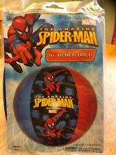"Inflatable 16"" Beach Ball Ultimate Marvel Hero Spiderman Age 3+ NIP"