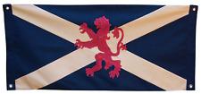 More details for scotland saltire & lion rampant fully sewn aged & vintage-look flag 101cm x 50cm