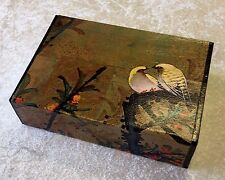 Two Love Birds Craft Box with Magnetic Closure 8x6x2""