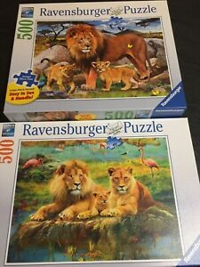 RAVENSBURGER PUZZLES, Lot of Two, 500 Pieces, Excellent Condition Assembled Once