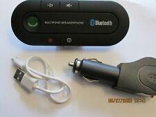 Handsfree Wireless Bluetooth Car Kit  Speaker Phone Visor Clip USB