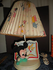 1984 Vintage The Walt Disney Company 1984 Baby Mickey Mouse Lamp Works Uc