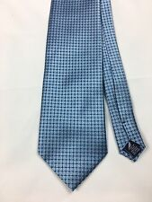 "NAUTICA Mens Neck Tie Blue Silver Geometric 4"" x 58"""