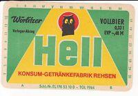 1  Bieretikett Rehsen ,  DDR