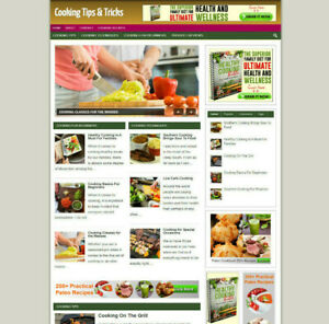 COOKING TIPS WEBSITE WITH AFFILIATES + DOMAIN & HOSTING+SSL CERTIFICATE