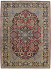 One of a Kind Vintage Geometric 10X13 Living Dining Room Oriental Rug Red Carpet