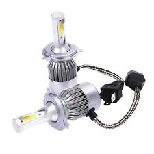 2pcs COB H4 55W 4600LM LED Headlight Kit Hi/Lo Beam Power Head Fog Bulbs 6000K
